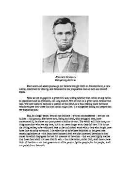 Language Arts - Gettysburg Address Rewrite