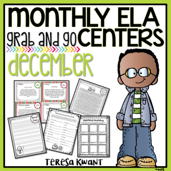 Literacy Centers for 3rd, 4th, 5th, and 6th Grade (December)