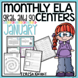 Literacy Centers for 3rd, 4th, 5th, and 6th Grade (January)