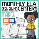 Literacy Centers for 3rd, 4th, 5th, and 6th Grade (March)