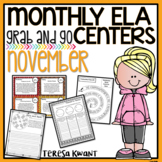 Literacy Centers for 3rd, 4th, 5th, and 6th Grade (November)