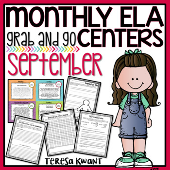 Literacy Centers 3rd, 4th, 5th, 6th Grade Back to School