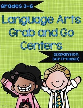 Language Arts Grab and Go Centers Expansion Set Freebie