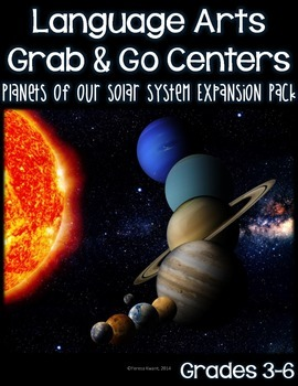 Language Arts Grab and Go Centers Planets of Our Solar System Expansion Pack