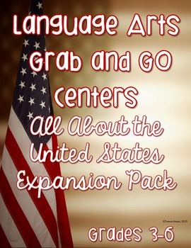 Language Arts Grab and Go Expansion Pack All About the United States