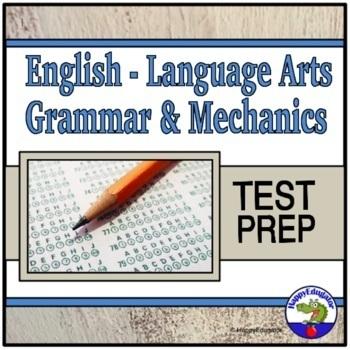 Language Arts Grammar and Mechanics PowerPoint for ELA Test Prep