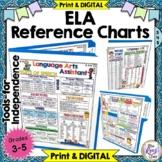 ELA Reference Chart Student Tool - Language Arts Student Office Print & DIGITAL