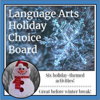 Language Arts Holiday Choice Board