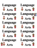 Language Arts Hollywood theme labels