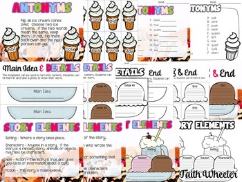 Ice Cream Literacy Centers