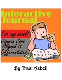English Language Arts Interactive Journal **For Any Novel!