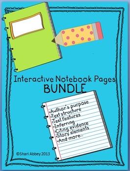 Language Arts Interactive Notebook Bundle