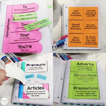 Language Arts Interactive Notebook - Grammar Interactive Notebook