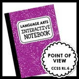 Language Arts Interactive Notebook - Point of View Lesson - Grades 5-8