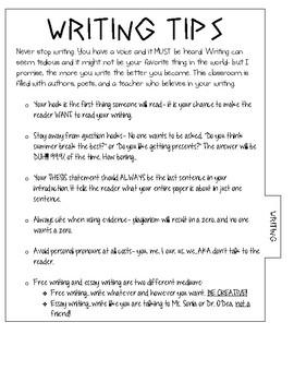 Language Arts Interactive Notebook Tabs