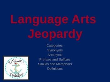 Language Arts Jeopardy Game