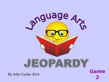 Language Arts Jeopardy Game 2