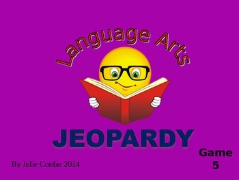 Language Arts Jeopardy Game 5