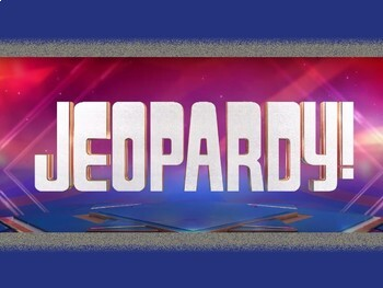 Language Arts Jeopardy Review Game (STAAR Test aligned)