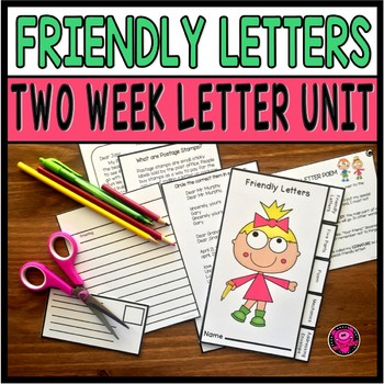 2nd and 3rd Grade Friendly Letters using Commas and Sequencing in ELA Journals