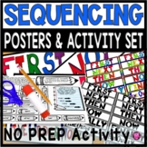 Sequencing Interactive Journal Print and Go Sheet and Posters