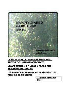 Language Arts Lesson Plan on Oak Trees focusing on Adjectives