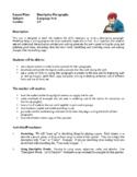Language Arts Lesson Plans - Descriptive Paragraphs, Classroom Newspaper