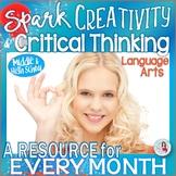 Language Arts Lesson of the Month - CCSS Grades 8-12 - Growing Bundle