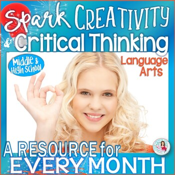Language Arts Lesson of the Month - CCSS Grades 8-12 - Growing Bundle