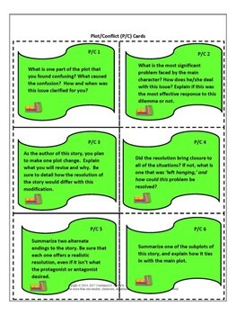 Reading Analysis - Literature Task Cards
