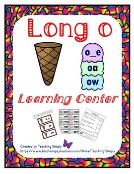 Literacy Center - Long o - Phonics - Reading