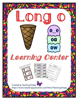 Literacy Center - Long o - Phonics - Reading