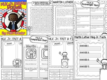 Martin Luther King Jr. Printable Activity Packet