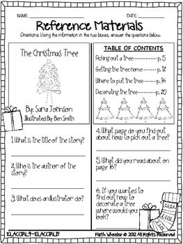 Christmas Language Arts and Math Printables by Faith Wheeler | TpT
