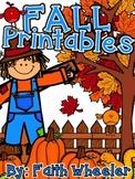 Fall Language Arts & Math Printables