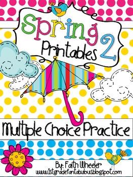 Spring Language Arts & Math Printables 2 (Multiple Choice)
