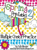 Spring Language Arts & Math Printables 2 (Multiple Choice)