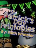 St. Patrick's Day Language Arts & Math Printables