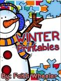 Winter Language Arts & Math Printables