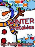Winter Language Arts & Math Printables