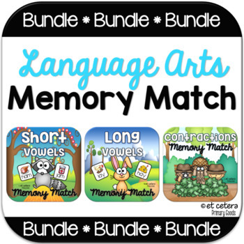 Language Arts Memory Match PowerPoint Bundle