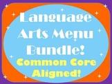 Language Arts Menu Bundle- FIVE Menus for Independent Lite