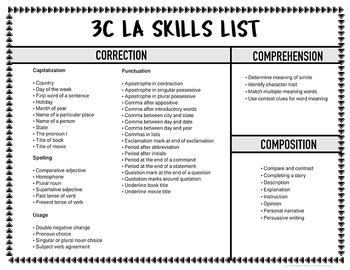 Language Arts Morning Work Worksheets