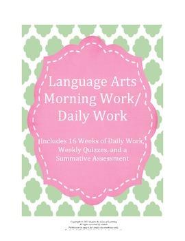 Language Arts Morning Work / Daily Work