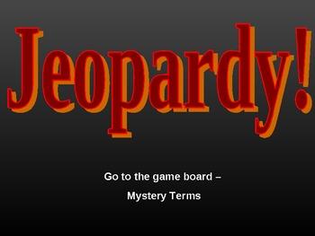 Language Arts Mystery Novel Vocabulary Jeopardy Game
