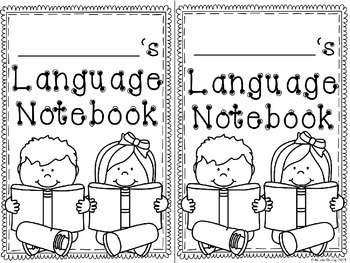 Language Arts Notebook Covers (Editable Options Included)