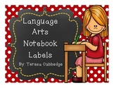 Language Arts Notebook Labels