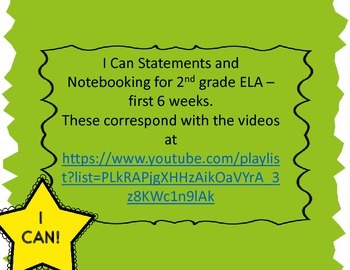 Language Arts Notebooking for 2nd grade