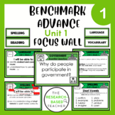 Language Arts Objectives-Unit 1 (3rd Grade- Benchmark Advance)