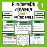 Language Arts Objectives-Unit 1 (3rd Grade- Benchmark Advance)